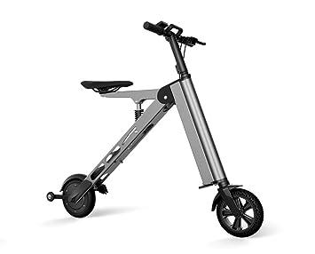 allocacoc plegable bicicleta eléctrica cargador de batería con cable de alimentación para adultos, gris