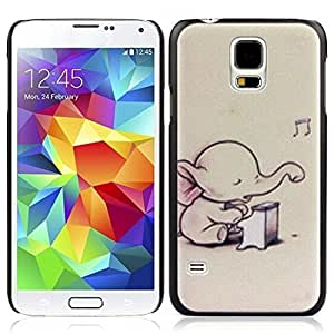 Generic Case, Hard Skin Case Cover for Iphone 5/5S (New Music Elephant)