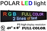 LED sign with HIGH resolution RGB color size 40'' x 8'' resolution P5 with SMD new technology. Perfect solution for advertising