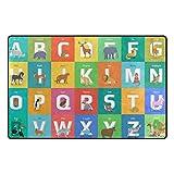 YZGO Animals Alphabet Letter - Kids Children Area Rugs Non-Slip Floor Mat Resting Area Doormats