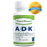 Cheap Vitamin ADK ~ High Potency [ Vitamin A 5000 iu | D3 5000 iu| K2 (as MK-7) 500mcg ] Supplement For Bone Strength and Heart Health, Dr. Formulated, NON GMO,NO SOY -60 Veg-Caps PowerbyNaturals (1 Bottle)