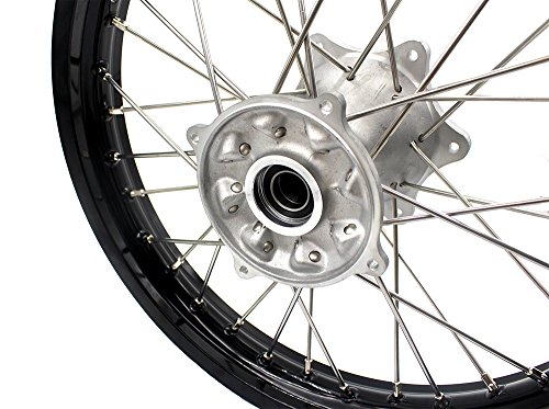 KKE HONDA MX COMPLETE CASTING WHEELS RIMS SET 21/19 CR125R CR250R 96-99 CR500R 96-01 by KKE (Image #4)