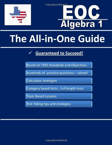 Texas EOC Algebra 1 - The All-in One Guide: Fusion Education ...