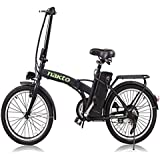 "NAKTO Electric Bicycle Sporting Shimano 6- Speed Gear EBike with Removable 36V10A Lithium Battery,Charger and Lock(20""/26"")"