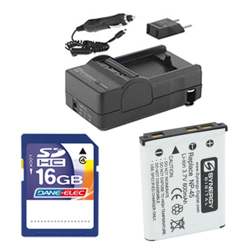 Fujifilm FinePix JX660 Digital Camera Accessory Kit Includes: SDNP45 Battery, SDM-141 Charger, SD4/16GB Memory Card