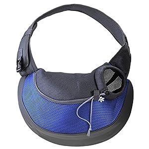 Mogoko Portable Dog Sling Bag Pet Shoulder Carrier Bag Breathable Mesh Single-Shoulder Pet Travel Carrier for Puppy Dog Cat Rabbit Outside Walking (S size)