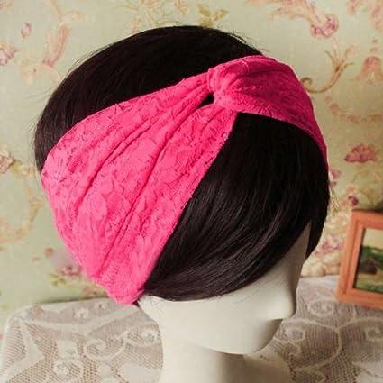 Women Turban Retro Twist Knot Head Wrap Headband Scarf Hair Band