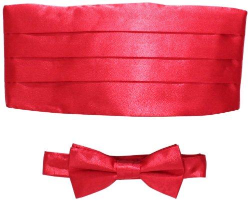 American Exchange Big Boys' Bowtie Set, Red, One Size