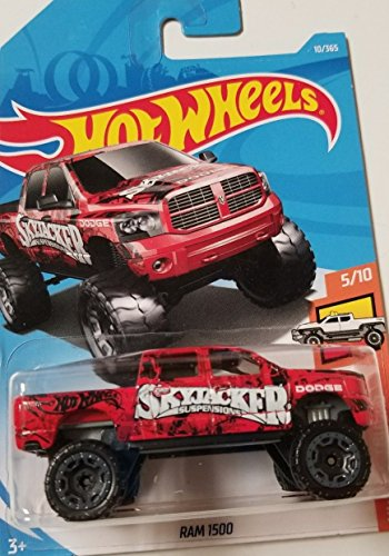 Hot Wheels 2018 50th Anniversary HW Hot Trucks Dodge Ram 1500 10/365, Red