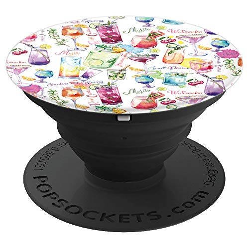 Tropical Alcohol Drinks - Fruity Drinks Cocktails Alcohol Beach Theme Tropical Cruise - PopSockets Grip and Stand for Phones and Tablets