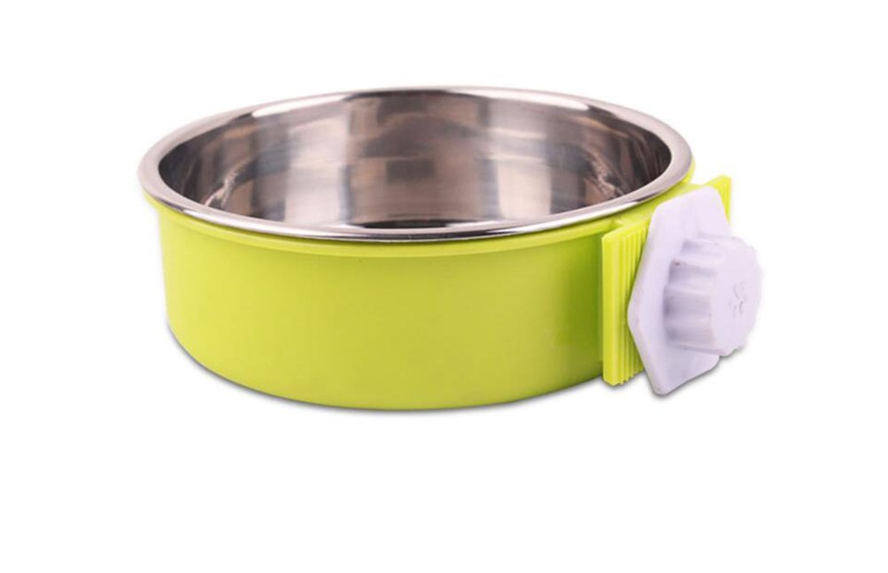 Green Large Green Large Stainless Steel Dog Bowl Removable Dog Bowl For Cat And Dog Suspension Design Height Adjustable Pack Of 1 BL-034