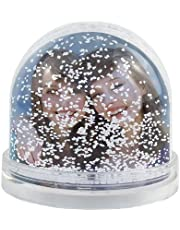 APRIL Bolas de Nieve Personalizadas con la Imagen y el Texto Que Quieras (Bola de Nieve Rojas)