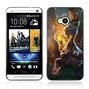 YOYOSHOP [Cute Dragon Roasting Marshmellows] HTC One M7 Case