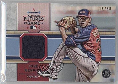 jose-berrios-50-baseball-card-2014-bowman-draft-picks-prospects-siriusxm-all-star-futures-game-relic