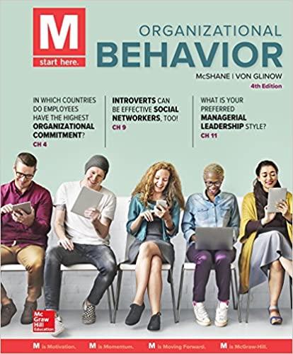 M: Organizational Behavior by McShane/Glinow