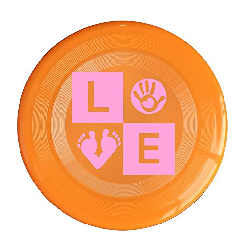 LINNA Unisex Baby Footprint Handprint Love Outdoor Game, Sport, Flying Discs,Game Room, Light Up Flying, Sport Disc ,Flyer Frisbee,Ultra Star Orange One Size