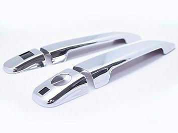 CarLab Benz - Accesorios cromados de Repuesto para Tirador de Puerta de Aluminio, Accesorios de