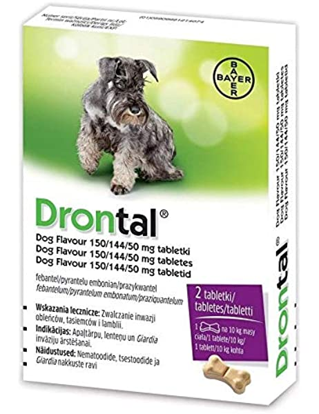 Bayer Dron Tal Worming Tablet For Dogs 1 Packet 2 Tablets Amazon Co Uk Pet Supplies