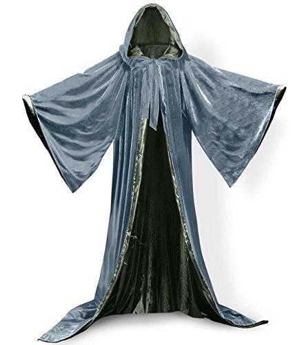 ANGELWARDROBE Wizard Robe Gray Olive Green 4XL