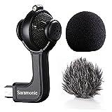 Saramonic G-Mic Stereo Mini usb Microphone with Foam & Furry Windscreens for GoPro HERO3, HERO3+ and HERO4
