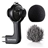Mic for Gopro,Saramonic G-Mic Stereo Mini USB Microphone with Foam & Furry Windscreens for GoPro HERO3, HERO3+ and HERO4