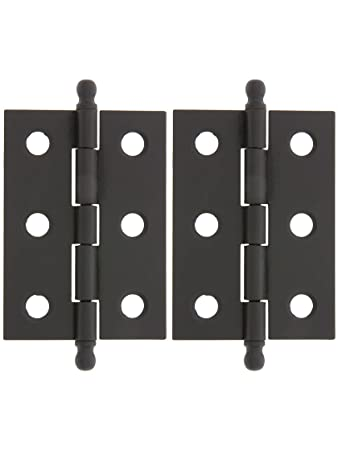 Pair Of Loose Pin Plated Steel Cabinet Hinges   2u0026quot; X 1 3/8u0026quot