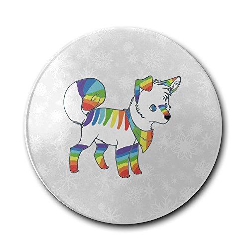 Jfd Rainbow Cute Wolf Bar Drink Ceramic Coaster Furniture