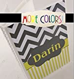 Custom Photo Album #IA465 4x6 or 5x7 Gray Yellow Chevron COLOR CHOICES Personalized with your name or message!