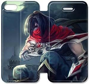 Liga de Leyendas V3C77C1 iPhone 5 5S 5SE caso de cuero del tirón funda de plástico F4H57O8 Hd caso funda de cuero del teléfono