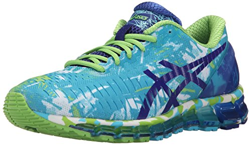 ASICS Women's Gel-Quantum 360 Running Shoe, White Blue/Jasmin Green, 9.5 M US (Gel New Asics Treadmill)