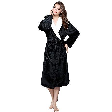Tina Invierno Unisex Pijama cálido Mujeres Albornoz Correas ...