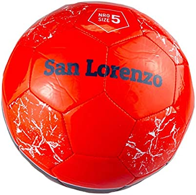 Pelota de fútbol de la Argentina San Lorenzo tamaño 5, color rojo ...