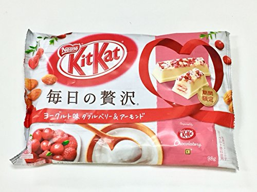 Japanese Kit Kat Luxury Yogurt with Double Berry and Almond - Tokyo Pink