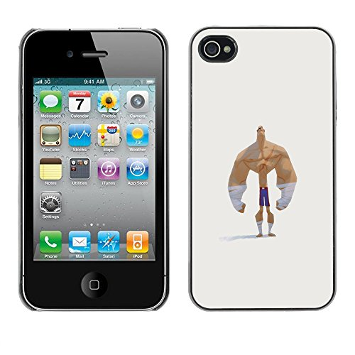 Ziland / Premium Slim HD plastique et d'aluminium Coque Cas Case Drapeau Cover / Funny Man Strong / Apple iPhone 4 / 4S