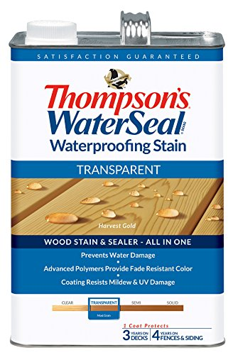 Deck Sealer - THOMPSONS WATERSEAL 041811-16 Transparent Stain, Gold