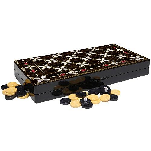 Design Backgammon Set (The 19'' White Lotus Design Backgammon Board Game Set)