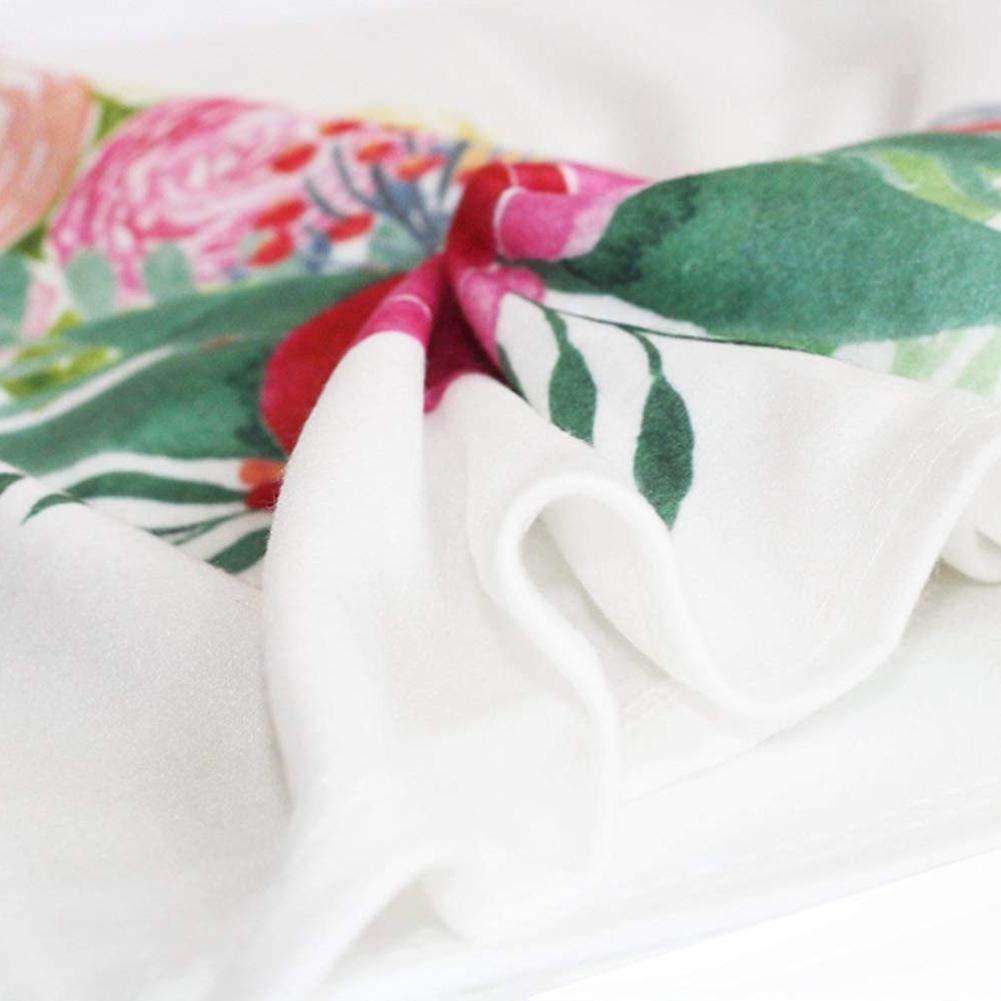 Quiet.T Beb/é Hito Mensual Manta Fotograf/ía Suave Fondo Manta Guirnalda Floral Conjunto De Diadema Foto Prop para Reci/én Nacidos Ni/ñas Ni/ños