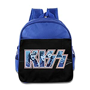 Kids Kiss Rock Band Logo Small Backpack (2 Color:Pink Blue)