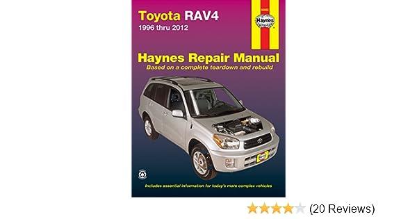 amazon com haynes 92082 toyota rav4 96 12 manual automotive