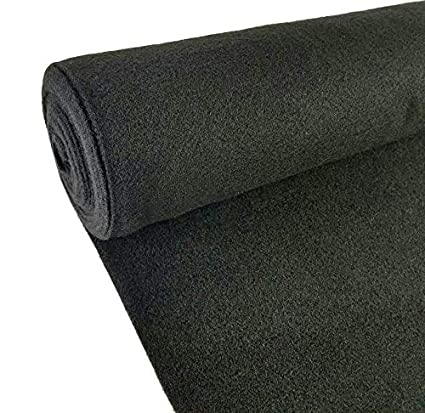 Black//Gray Auto Marine Replacement Trim Carpet Carpeting Upholstery Un-Backed