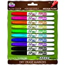 Board Dudes SRX Dry Erase Markers Medium Point 10-Count Assorted Colors. Packaging May Vary from Image (DDC99)