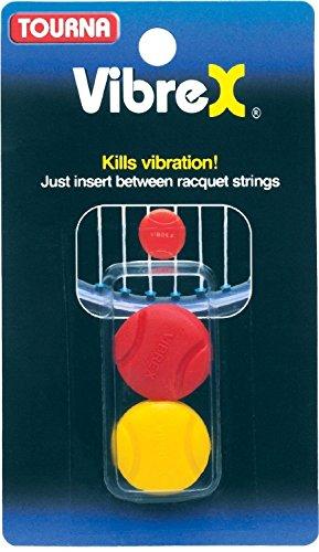 Tourna Vibrex Tennis String Vibration Dampener-racquet Shock Absorber-2 Pack ()