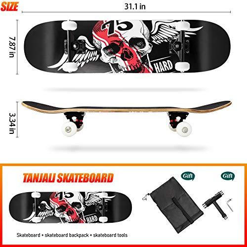 TANJILI Complete Skateboard,31\