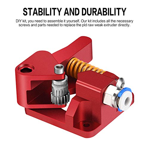 Aluminum Dual Gear Extruder Upgrade Kit for Tornado//CR-10// CR-10S// CR-10S Pro//Ender 3//Anet A8 Anycubic Mega Wanhao i3 Right Hand Zeelo Dual Drive Extruder