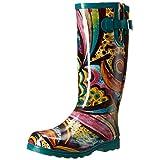 Nomad Women's Puddles Rain Boot, Turquoise Monet, 8 M US