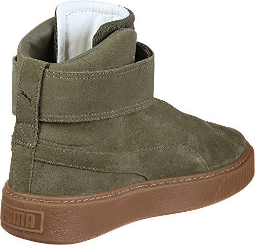 Puma Platform Mid Ow Damen Sneaker Grün Green