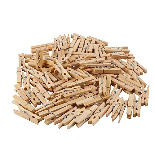 DECORA 45mm Sturdy Heavy-Duty Wooden Clothespins for Photo Clips Scrap Booking Crafts Gift Wrapping ,100 pieces