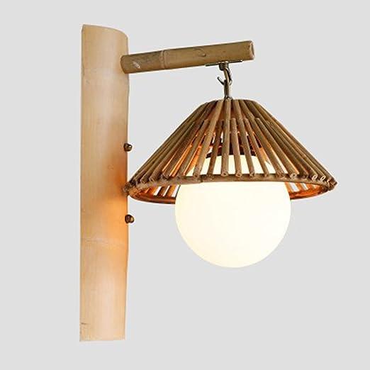 Giapponese Retro Semplice Arte Bambu Cavalletto Lampada Da Parete