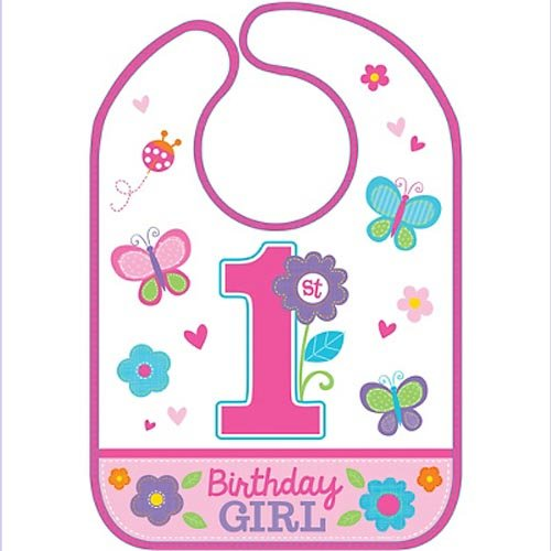 (Sweet Birthday Girl Vinyl Baby Bib)