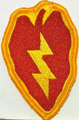 - 25th Infantry Division Iron On Patch Red & Gold Version The